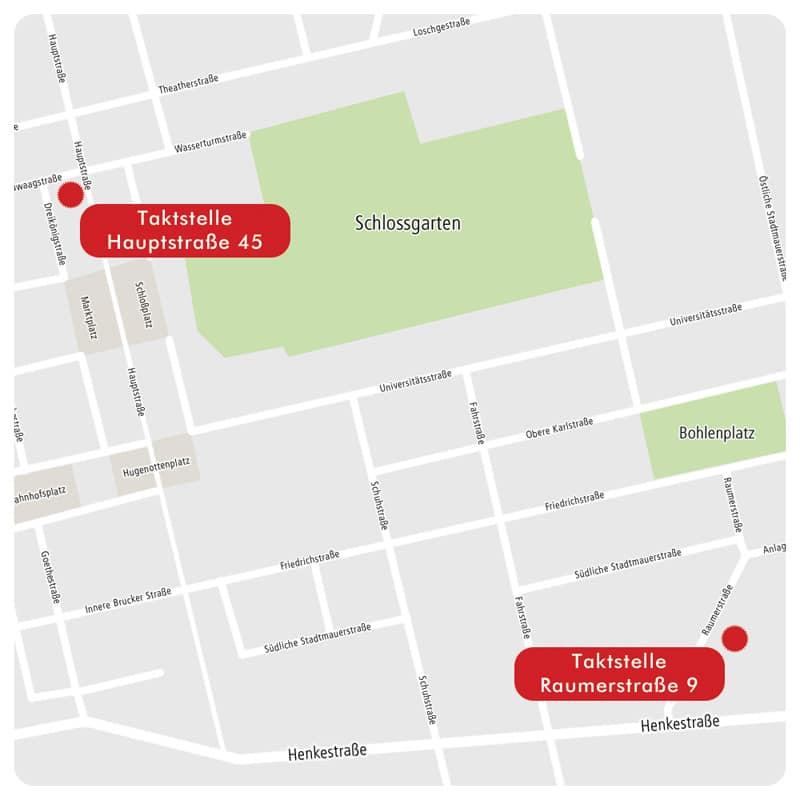 Standorte Musikinstitut Taktstelle Erlangen
